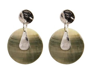 julie earrings silver green