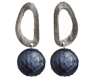 nathalie earrings blue silver