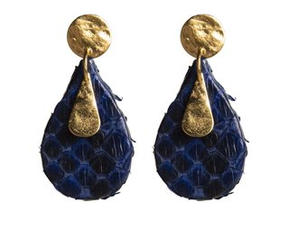 pauline earrings blue black gold 2